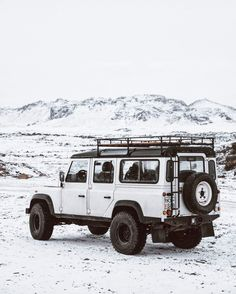 """upknorth: """" To some a blank place on the map is a useless waste; to others, the most valuable part. - Aldo Leopold Iceland's official vehicle shot by @btonevibes 