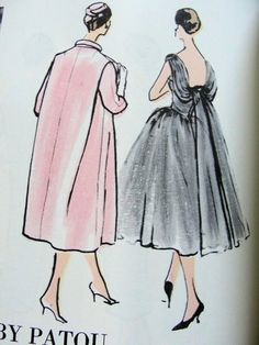 1950s Patou Evening Dress and Coat Pattern
