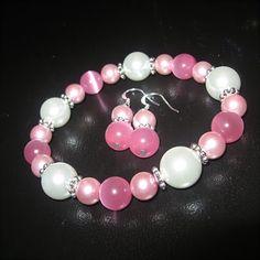 Pearls and semi precious pink stones