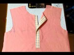 YouTube Chudi Neck Designs, Neck Designs For Suits, Dress Neck Designs, Blouse Neck Designs, Blouse Neck Patterns, 1st Birthday Dresses, Simple Blouse Designs, Sewing Blouses, Sewing Kids Clothes