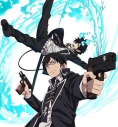 Blue Exorcist || Rin And Yukio #anime Aunque yo le digo Ao no Exorcist, pero es lo mismo...creo :v //Dragoner//