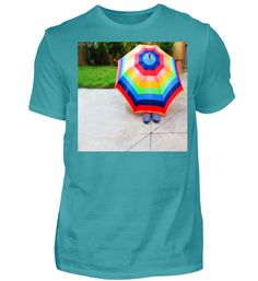 SONNENSCHIRM REGENBOGEN BUNTE FARBEN T-Shirt Mens Tops, Fashion, Rain Bow, Cotton, Moda, Fashion Styles, Fashion Illustrations