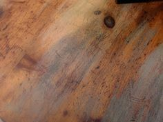 Great distressing steps! Using dark walnut stain