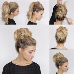 Easy & Fast Top Knot Tutorial
