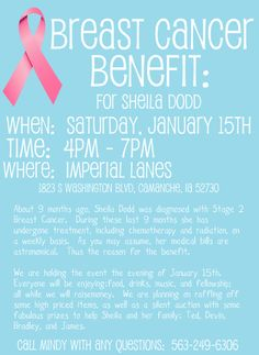 Breast Cancer Benefit Flyer Template | Click on image to increase it's size.