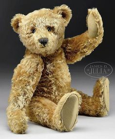 "FABULOUS EARLY 24"" STEIFF BEAR. - by James D. Julia"