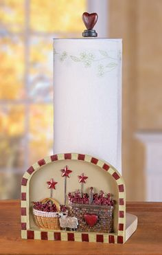 #31576 Primitive Country Kitchen Paper Towel Holder by sensationaltreasures
