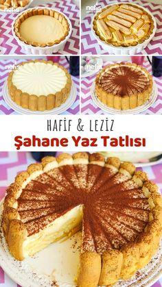 Light Summer Desserts, Turkish Recipes, Ethnic Recipes, Turkish Sweets, Summer Cakes, Food Decoration, Food Presentation, Tiramisu, Dessert Recipes
