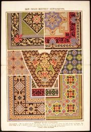 89/1389-101 Needlework pattern, paper, England, 1860-1900. Berlin wool patterns incl sofa pillows, Bow Bells - Powerhouse Museum Collection