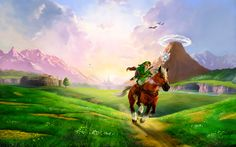 The Legend of Zelda: Ocarina of Time - Link and Epona