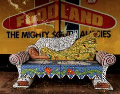 Foodland Angel mosaic chair