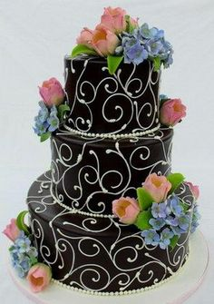 Wedding cake without the flowers and in a different color