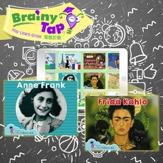 It's International Women's Day! Find out about amazing women in history like Frida Kahlo, Anne Frank and other icons on BrainyTap - Download BrainyTap from the Appstore #SheMeansBusiness
