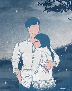 Loveillustration what was important was what kind of heart i had and what kind of dreams i had when i looked at you Cute Couple Drawings, Cute Couple Art, Couple Illustration, Illustration Art, Romantic Artwork, Cute Anime Couples, Aesthetic Art, Cute Love, Cartoon Art