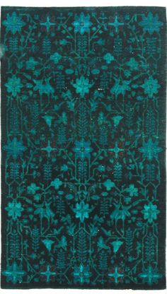 Overdyed OVR64 Teal Rug   Traditional Rugs / shades of teal / turquoise