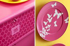 #DIY stencil: dresser & plate/wall art