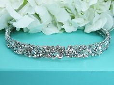 Bridal Headband Crystal rhinestone wedding by AllureWeddingJewelry