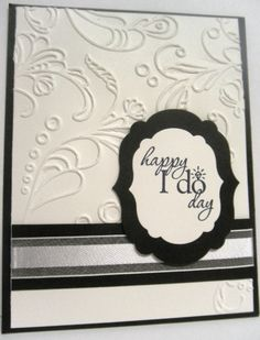 Handmade wedding card using the Word Play stamp set from Stampin' Up!