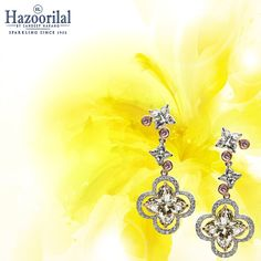 Dazzling Diamonds Dainty and captivating for your profound grace.  #HazoorilalBySandeepNarang #LilyCuts #YellowDiamonds #CertifiedSolitaires #Hazoorilal