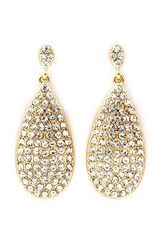 Golden Crystal Isabelle Teardrop Earrings   Emma Stine Jewelry Earrings
