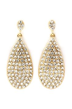 Golden Crystal Isabelle Teardrop Earrings | Emma Stine Jewelry Earrings