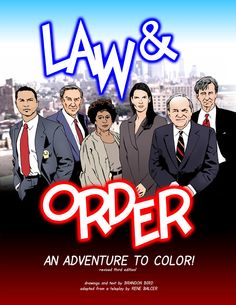 """@Brittany Bisoni """"Law & Order: An Adventure to Color"""" BAHAHA! Law & Order coloring book! This season was the best cast!"""