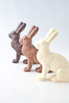 Gourmet molded chocolate Easter bunnies