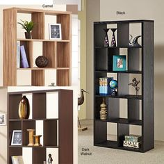@Overstock - Sleek and stylish, this contemporary black bookcase would make an eye-catching statement in any room. Featuring a unique cubbyhole design, this black bookcase can be constructed vertically or horizontally to suit your own personal style.http://www.overstock.com/Home-Garden/Nordic-Cubbyhole-Bookcase-Display-Shelf/4854527/product.html?CID=214117 $189.89