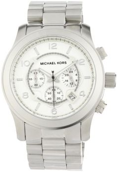 Michael Kors Men's MK8086 Runway Silver-Tone Watch Michael Kors. $182.92. Water-resistant to 330 feet (100 M). Oversized round chronograph. Iconic Michael Kors metals give you the bold and classic. 3 link bracelet. Case diameter: 46 mm