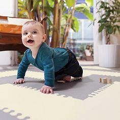 The Skip Hop Playspot Geo Foam Floor Tiles - Grey/Peach is stylish baby-safe flooring! Baby Play Areas, Soft Play Area, Foam Floor Tiles, Foam Flooring, Baby Gym, Stylish Baby, Toys R Us, Baby Safe, Kids Rugs