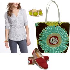 """Christmas in July"" by sassysaks @Polyvore http://www.sassysaks.com/products/beach-tote/catalina-chocolate-flower.php"