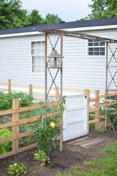 garden fence arbor entry gate roses heirloom seed