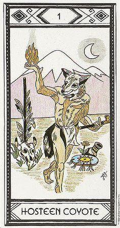 Hosteen Coyote (The Magician) - Native American Tarot