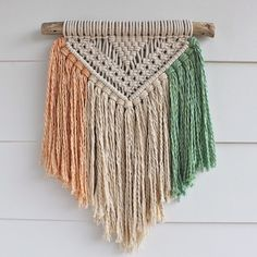 Macramé Wall Hanging on Drift Wood by FreeCreatures on Etsy ...