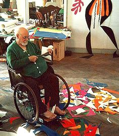 Matisse, paper cutting. We both love Matisse, especially the cut paper works of his latter days. I actually made two quilts based on those artworks.