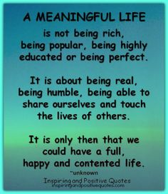 #meaningfullife