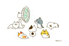 Cute Screen Savers, Soft Kitty Warm Kitty, Cute Penguins, Cute Cartoon Wallpapers, Kawaii Cute, Animal Drawings, Cat Art, Art For Kids, Cute Animals