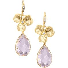 Kat Blink Pink Agate And Amethyst Earrings 210 Liked On Polyvore Featuring Jewelry Ame