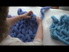CraftSanity Video Tutorial: How to arm knit with merino wool