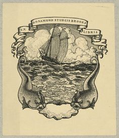 [Bookplate of Rosamond Sturgis Brooks]. Harding, Dorothy Sturgis,, artist. [1920]. 1 print : lithograph ; bookplate 12.2 x 10.4 cm, on mount 22.8 x 15.2 cm. Ruthven Deane Bookplate Collection, Library of Congress, Prints and Photographs Division.