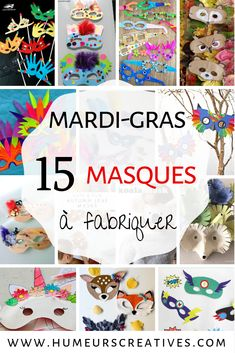 15 bricolages de masques pour mardi gras Clown Crafts, Fun Crafts, Puzzle Crafts, Parenting Toddlers, Easy Halloween, Deco, Diy For Kids, Activities For Kids, Voici