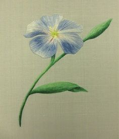 I ❤ embroidery . . . Royal School of Needlework Silk Shading ~By Kaoru Ozaki