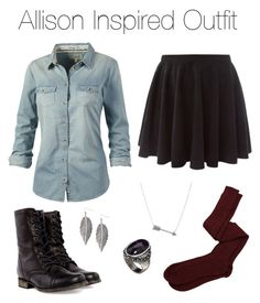 """""""Teen Wolf - Allison Inspired Outfit"""" by stardustonthepiano ❤ liked on Polyvore featuring Steve Madden, Aiayu, Fat Face, ASOS, women's clothing, women's fashion, women, female, woman and misses"""