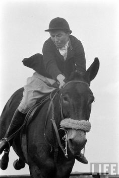 Charlie the Jumping Mule and Libby Chase Swift