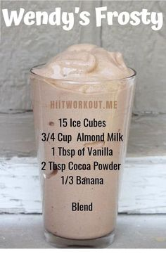 Wendys Frosty Recipe - Best Lunch Smoothie This smoothie Its super filling. Wendys Frosty Recipe - Best Lunch Smoothie This smoothie Its super filling. Easy Smoothie Recipes, Healthy Smoothies, Healthy Drinks, Drink Recipes, Milkshake Recipes, Juice Recipes, Healthy Food, Vegan Recipes, Dessert Healthy