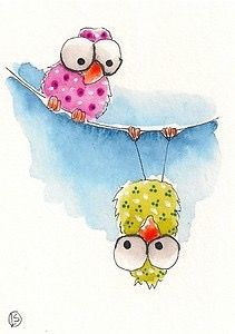 U = Upside down owl.