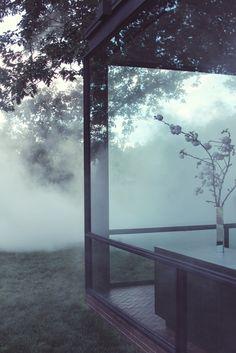 Fujiko Nakaya's Veil at The Philip Johnson Glass House - New Caanan, CT