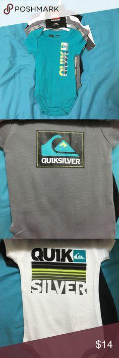 Quicksilver bodysuits 5 pack 0-3 months Quiksilver Quiksilver One Pieces Bodysuits