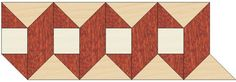 Wood Borders: B31. Check other inlays, wood and stone medallions, borders and parquet from Czar Floors.