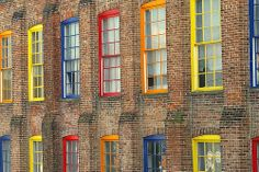 Colorful window frames